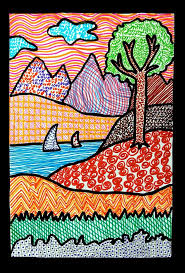 Cool Art Project Ideas by Texture Landscape Drawings Art Projects For Kids Teach Your