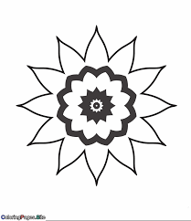 Mandala Flower Coloring Page Coloring Pages Mandala Flowers Coloring Pages