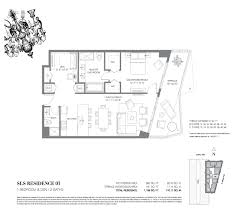 sls hotel and residences brickell luxury condo for sale rent floor floor plans