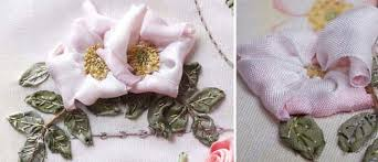 silk ribbon roses ribbon embroidery technique