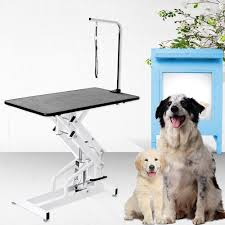 large dog grooming table 42 5 x 23 6 large pet grooming table dog cat adjustable arm noose