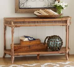 Rattan Console Table Hailey Console Table Pottery Barn