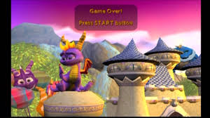 spyro enter the dragonfly level transitions game over youtube
