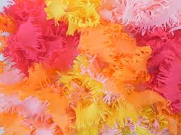 ruffled streamers diy fringed crepe paper streamers miss party