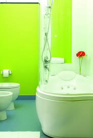 bathroom tile green glass subway tile backsplash mint green