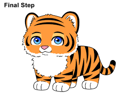 how to draw a tiger cartoon