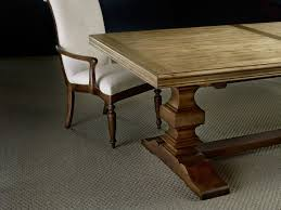 hooker furniture dining room archivist trestle table w 2 18in