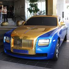 rolls royce ghost gold blue and gold rolls royce madwhips