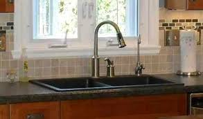 overmount sink on granite drop in porcelain kitchen sink thefunkypixel com