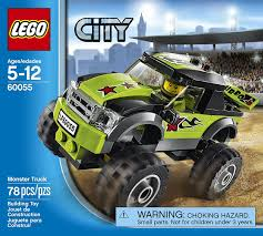 monster trucks trucks for children amazon com lego city great vehicles 60055 monster truck toys u0026 games