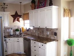 Ivory Colored Kitchen Cabinets Granite Countertop White Kitchen Cabinets With Black Hardware