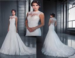 selling wedding dress hot selling illusion neckline wedding dresses 2015 lace