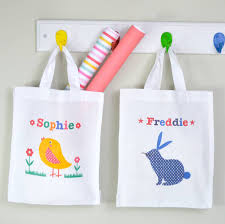easter bags child s personalised easter egg hunt bag by tilliemint