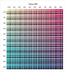 sample cmyk color chart 8 free documents in pdf