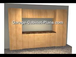 Wooden Garage Storage Cabinets Plans by Garage Storage Cabinet Plans Youtube