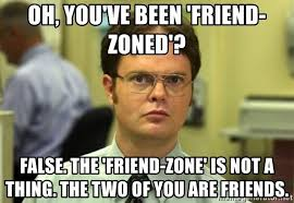 Friends Zone Meme - oh you ve been friend zoned false the friend zone is not a