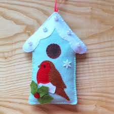 rp felt robin and bird house pdf sewing pattern and tutorial