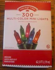 holiday time string lights holiday time 300ct multi color mini lights string christmas 2pack ebay
