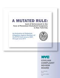 civilian complaint review board news reports u0026 statistics