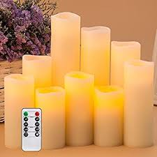enpornk flameless candles led pillar battery operated