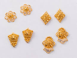 design of gold earrings ear tops an unlimited variety of eartops that are sweet smart and