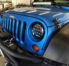 jeep wrangler blue headlights led headlight jodie 7 inch headlight led