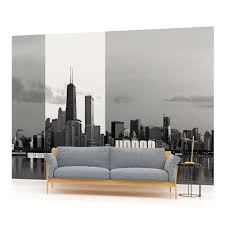 28 chicago wall mural wm75 chicago skyline at night wall chicago wall mural chicago city cities skyline photo wallpaper wall mural