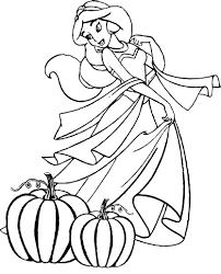 Coloriage Jasmine Halloween à imprimer