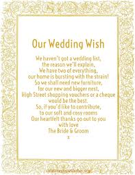 wedding gift money poem honeymoon poems to and to asking for money