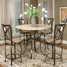 adelson chocolate 5 pc counter height dining room height dining