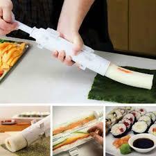 piston cuisine appareil à sushis et makis à piston kit de rouleau de sushi blanc