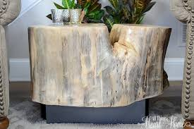 How To Make A Tree Stump End Table by Tree Stump Table With Casters All Things Heart And Home