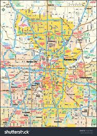 Shawnee Map Kansas City Missouri Area Map Stock Vector 146427950 Shutterstock
