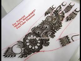 trendy arabic henna mehndi design tutorial for beginners youtube