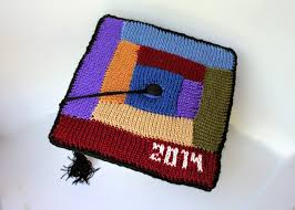 graduation caps for sale the fuzzy square log cabin knitted graduation cap
