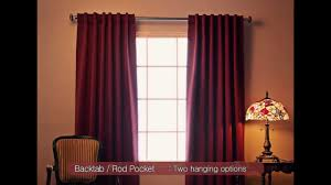 Red Eclipse Curtains Best Home Fashion Blackout Curtains Youtube
