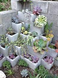 cinder block planter ideas for your garden succulent wall walls
