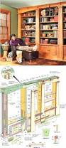 kitchen bookshelf ideas mission oak built in bookcase plans furniture plans and projects