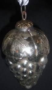 19c 4 kugel green mercury glass ornament tree