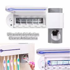 Uv Bathroom Light Grid Toothbrush Sterilizer Toothbrush Holder Automatic Toothpaste