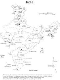 India Blank Outline Map by India Map Outline With States And Capitals Endearing Enchanting