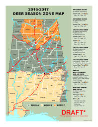 Rifle Colorado Map by 2016 17 Deer Season Zone Map Outdoor Alabama