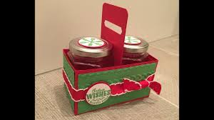 handmade gift box for two jam jars using yummy little christmas by