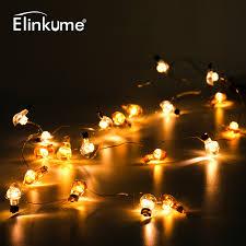 elinkume powerful outdoor string led bulb light 2 3m 20leds