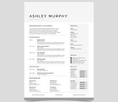100 business resume design 20 professional ms word resume