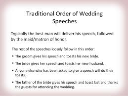wedding speeches wedding speech order www excursionescatalina