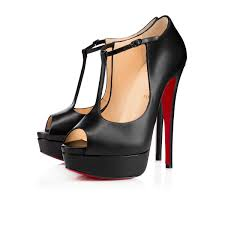comfortable christian louboutin altapoppins leather black