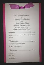 layered wedding programs color layer wedding program template 1