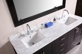 abel 60 inch rustic double sink bathroom vanity marble top shining
