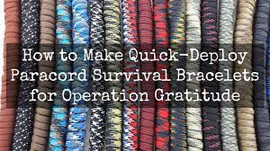 paracord survival bracelet instructions images How to make paracord survival bracelets operation gratitude blog jpg